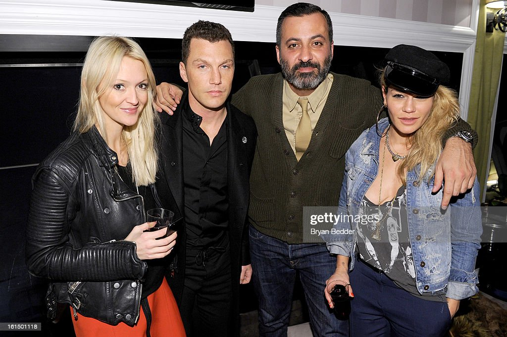 Zana Roberts Rassi, Sean Avery, Mazdack Rassi and Jenne Lombardo attend American Express at Mercedes Benz Fashion Week Fall 2013 at Lincoln Center on February 11, 2013 in New York City.