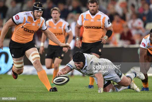 Zander Fagerson of the Glasgow Warriors during the Guinness Pro14 match between Toyota Cheetahs and Glasgow Warriors at Toyota Stadium on October 06...