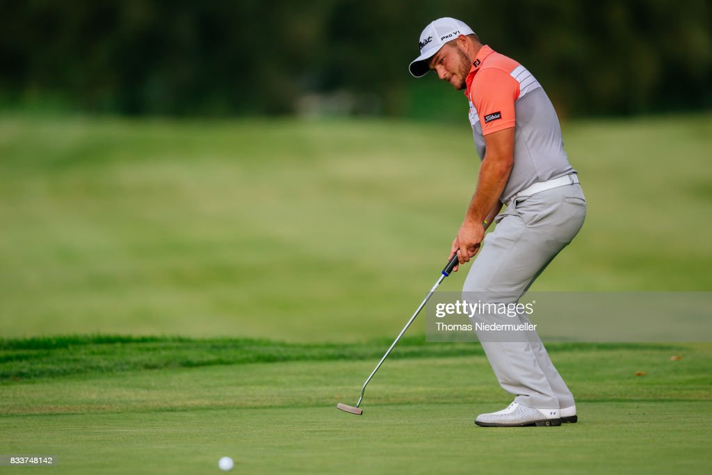 Zander Lombard of South Africa is seen during day one of the Saltire Energy Paul Lawrie Matchplay at Golf Resort Bad Griesbach on August 17, 2017 in Passau, Germany.