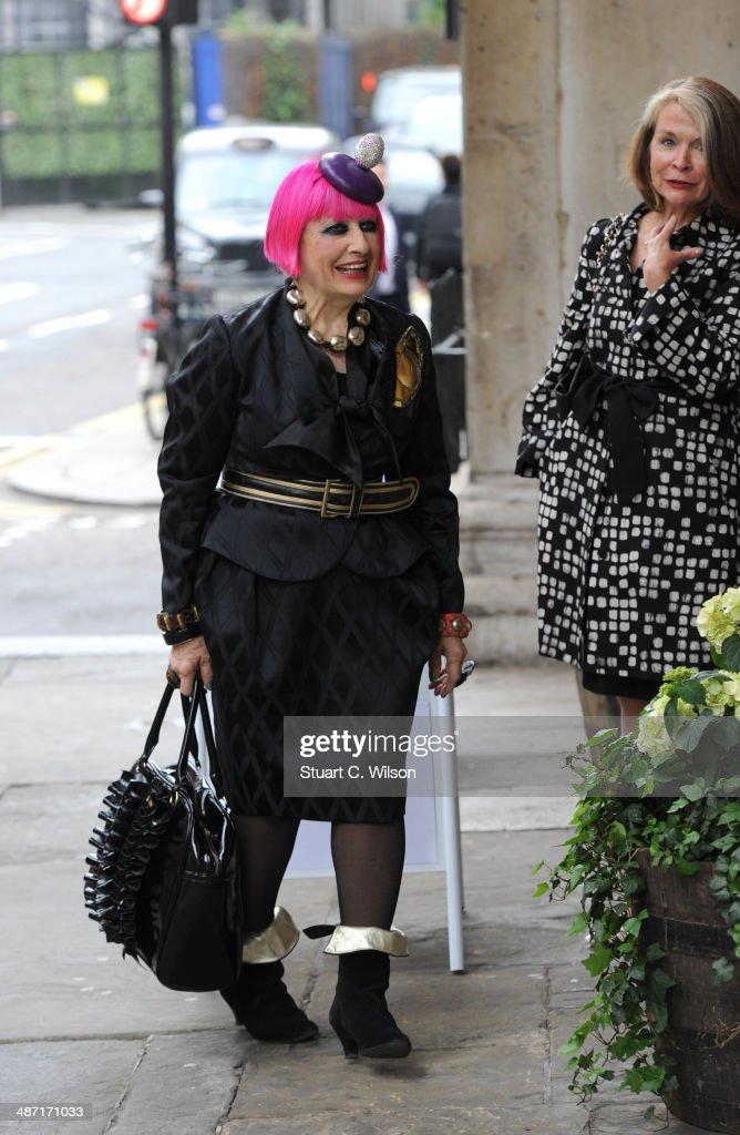 <a gi-track='captionPersonalityLinkClicked' href=/galleries/search?phrase=Zandra+Rhodes+-+Fashion+Designer&family=editorial&specificpeople=4394063 ng-click='$event.stopPropagation()'>Zandra Rhodes</a> attends a memorial service for former British Vogue Editor Beatrix Miller at St George's Church on April 28, 2014 in London, England. She died aged 90 in February 2014 was the editor of British Vogue from 1964 to 1986.
