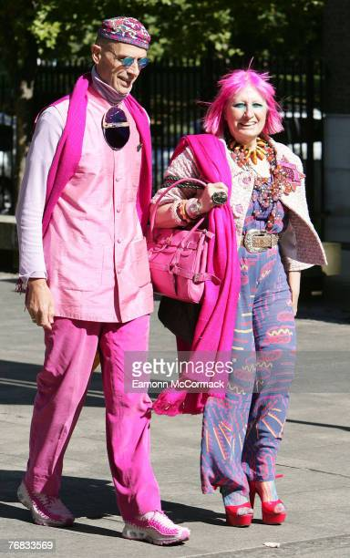 Zandra Rhodes attends the Isabella Blow Memorial Service at Guards Chapel on September 18 2007 in London England