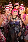 Zandra Rhodes attends the Zandra Rhodes presentation during London Fashion Week Spring/Summer 2016 at Hotel Cafe Royal on September 18 2015 in London...