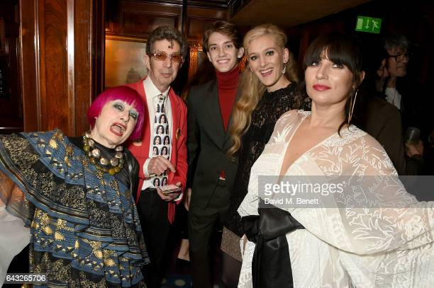 Zandra Rhodes Duggie Fields Maria Sascha Khan Julian MacKay and Grace Woodward at the LOVE and Burberry London Fashion Week Party at Annabel's...