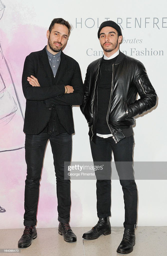Zane Aburaneh and Jamie Webster attend the Holt Renfrew opening night party on March 18, 2013 in Toronto, Canada.