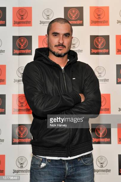 Zane Lowe attends the Jagermeister Ice Cold 4D Alice Cooper Holographic Event at Battersea Power station on May 11 2011 in London England