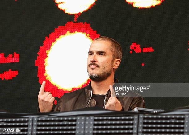 Zane Lowe DJ's on stage during BBC Radio 1's Big Weekend at Glasgow Green on May 23 2014 in Glasgow United Kingdom