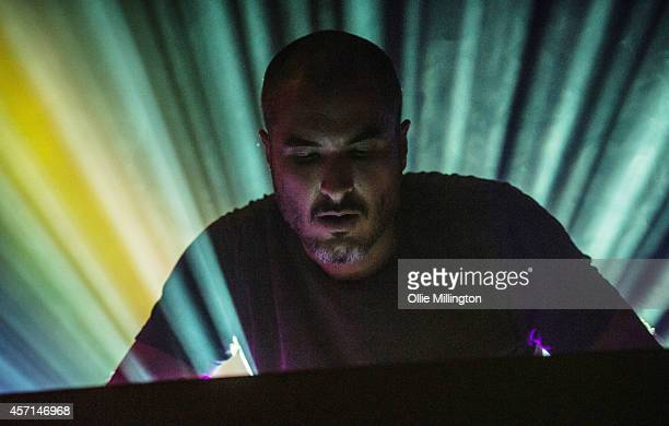 Zane Lowe performs on stage at O2 Academy Leicester on October 12 2014 in Leicester United Kingdom