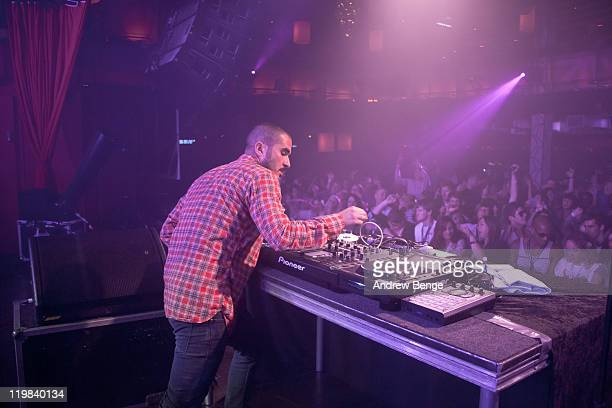 Zane Lowe performs on stage at O2 Arena on July 23 2011 in London United Kingdom
