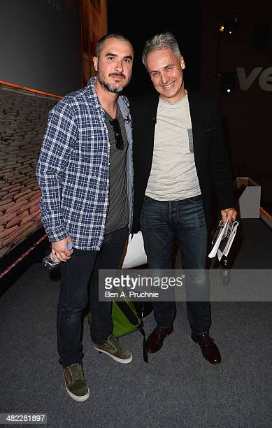 Zane Lowe Radio 1 Presenter and Nic Jones Vevo SVP International attend Video Evolution in Music in the ITV Stage at Princess Anne room during day...