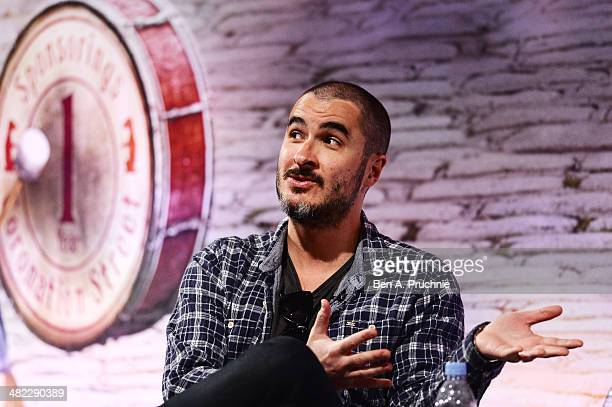 Zane Lowe Radio 1 Presenter attends Video Evolution in Music in the ITV Stage at Princess Anne room during day four of Advertising Week Europe held...