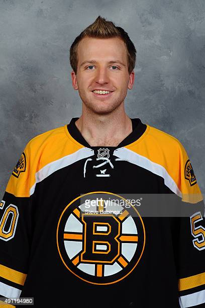 Zane McIntyre of the Boston Bruins poses for his official headshot for the 20152016 season on September 18 2015 at the TD Garden in Boston...