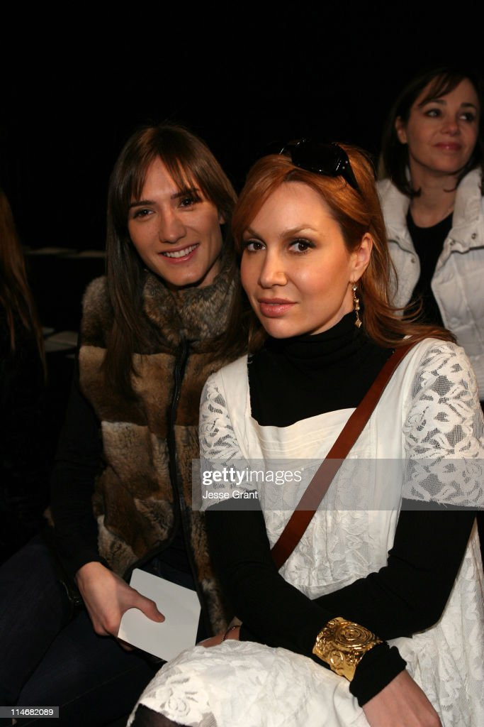 Zani Gugelmann and Fabiola Beracasa during MercedesBenz Fashion Week Fall 2007 Behnaz Sarafpour Front Row and Backstage at Eyebeam in New York City...