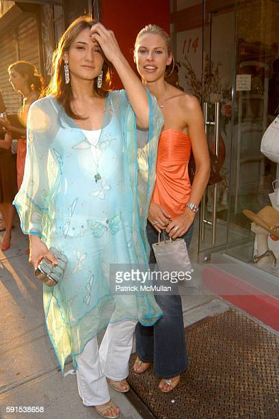 Zani Gugelmann and Petrina Khashoggi attend Foley Corinna Store Opening Party at Foley Corinna Store on June 8 2005