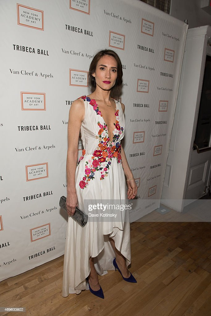Zani Gugelmann arrives at the 2015 Tribeca Ball at New York Academy of Art on April 13, 2015 in New York City.