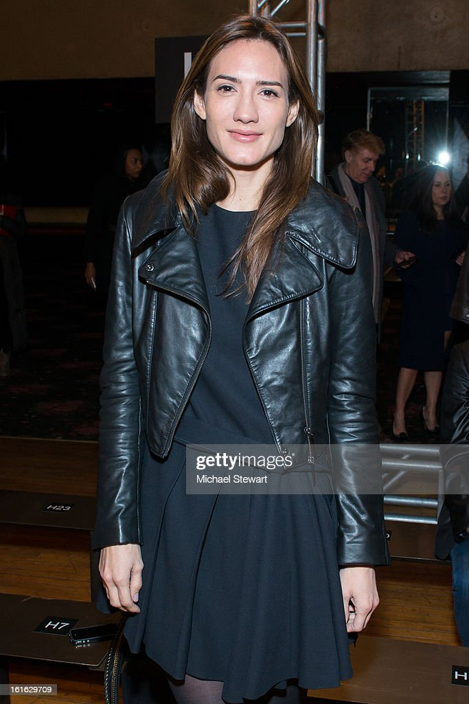 Zani Gugelmann attends Philosophy By Natalie Ratabesi during fall 2013 Mercedes-Benz Fashion Week on February 13, 2013 in New York City.