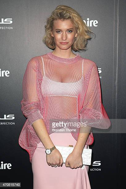 Zanita Whittington arrives at the 2015 Prix de Marie Claire Awards at Fox Studios on April 21 2015 in Sydney Australia