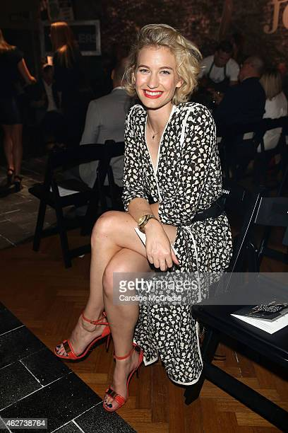 Zanita Whittington poses after the David Jones Autumn/Winter 2015 Collection Launch at David Jones Elizabeth Street Store on February 4 2015 in...