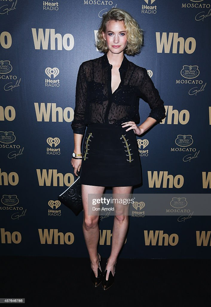 Zanita Whittington poses at WHO's sexiest people party 2014 at Fox Studios on October 22 2014 in Sydney Australia