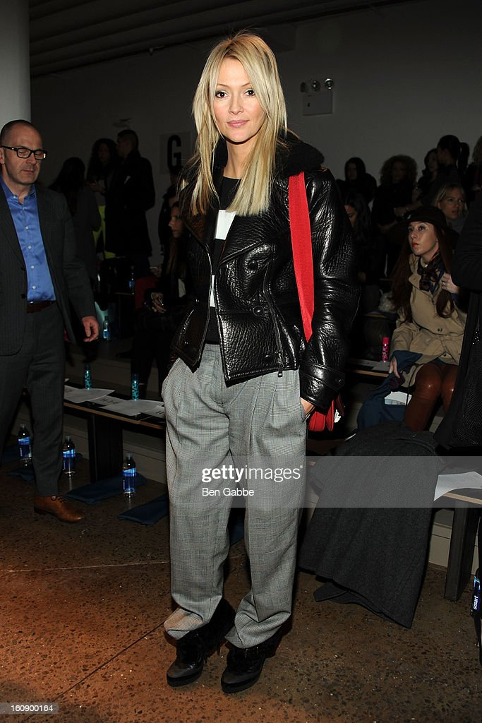 Zanna Rassi attends the Costello Tagliapietra fall 2013 fashion show during MADE fashion week at Milk Studios on February 7, 2013 in New York City.