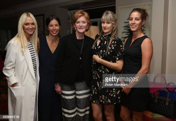 Zanna Roberta Rassi Jamie Erickson Barbara Bradley Baekgaard Tennessee Thomas and Ivy Mix attend the Vera Bradley Leather And Faux Leather Launch...
