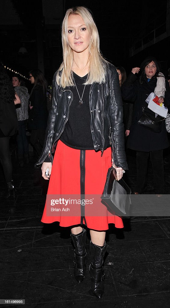 Zanna Roberts Rassi attends the Theyskens' Theory fall 2013 fashion show during Mercedes-Benz Fashion Week at Skylight Studios at Moynihan Station on February 11, 2013 in New York City.