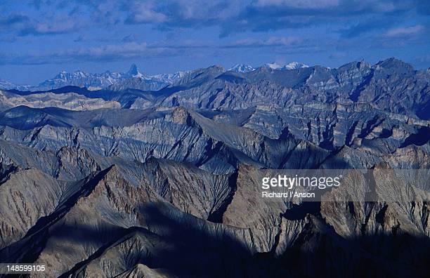 Zanskar Range from Kongmaru La or pass (5150m), Kongmaru La, Markha Valley.