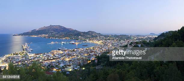 Zante and Harbor at Sunset