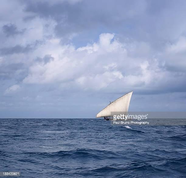 Zanzibar dhow sailing along north coast