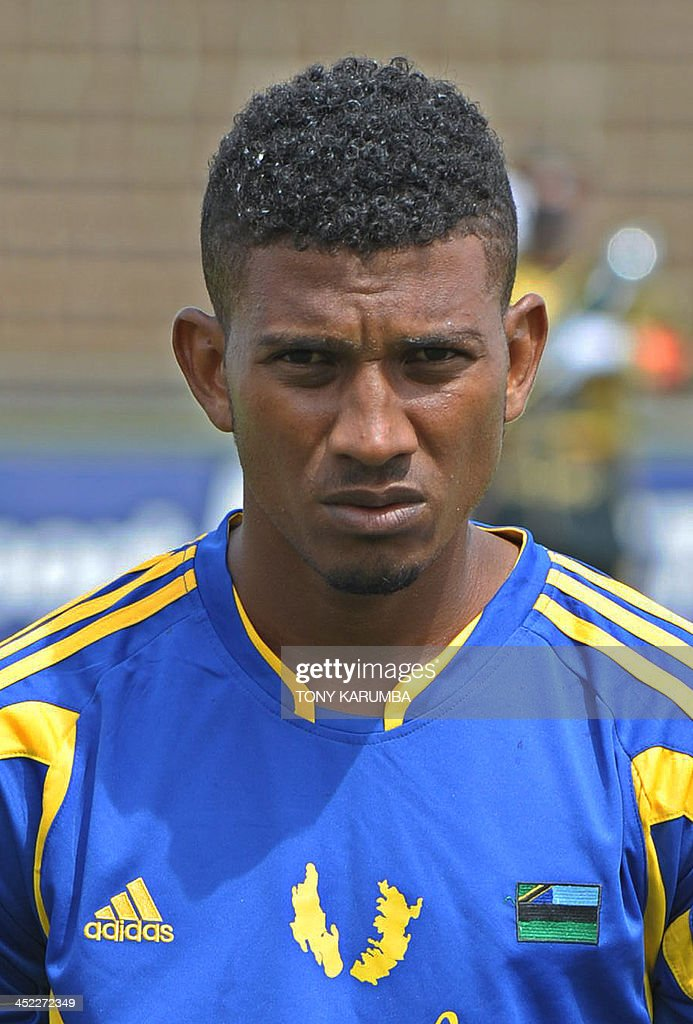 Zanzibar's Mohamed Faki Khatib poses ahead of the Council for East and Central Africa Football Associations (CECAFA) Cup football tournament match between South Sudan and Zanzibar in Nairobi, on November 27, 2013.