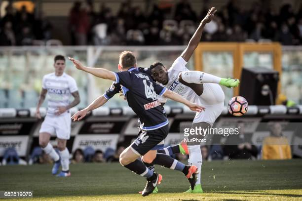 Zapata Duvan during the Italian Serie A football match Pescara vs Udinese on March 15 in Pescara Italy