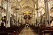 Zapotlan's cathedral, interior view.