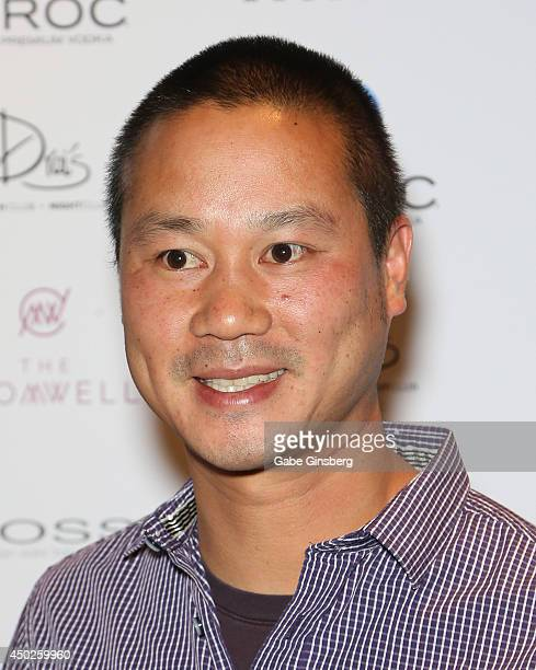 Zapposcom CEO Tony Hsieh arrives at Vegas magazine's 11th anniversary party at Drai's Beach Club Nightclub at The Cromwell Las Vegas on June 7 2014...