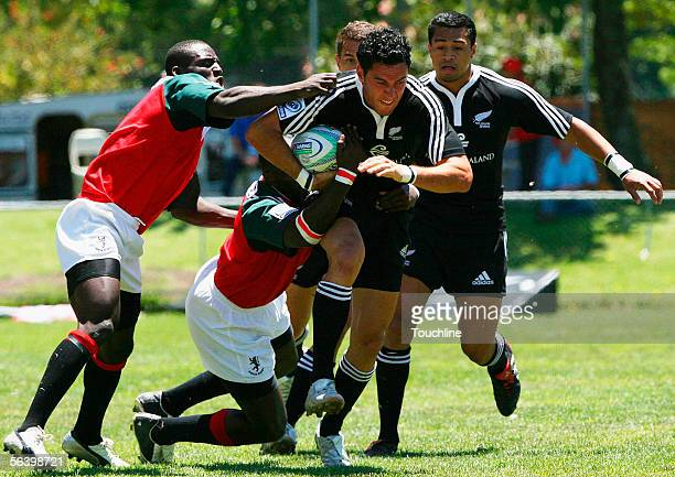 Zar Lawrence of New Zealand in action during the IRB Sevens Series match between New Zealand and Kenya at the George Rugby Ground on December 9 2005...