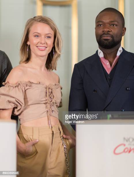 Zara Larsson and David Oyelowo attend the press conference ahead of the Nobel Peace Prize Concert 2017 at the Norwegian Nobel Institute on December...