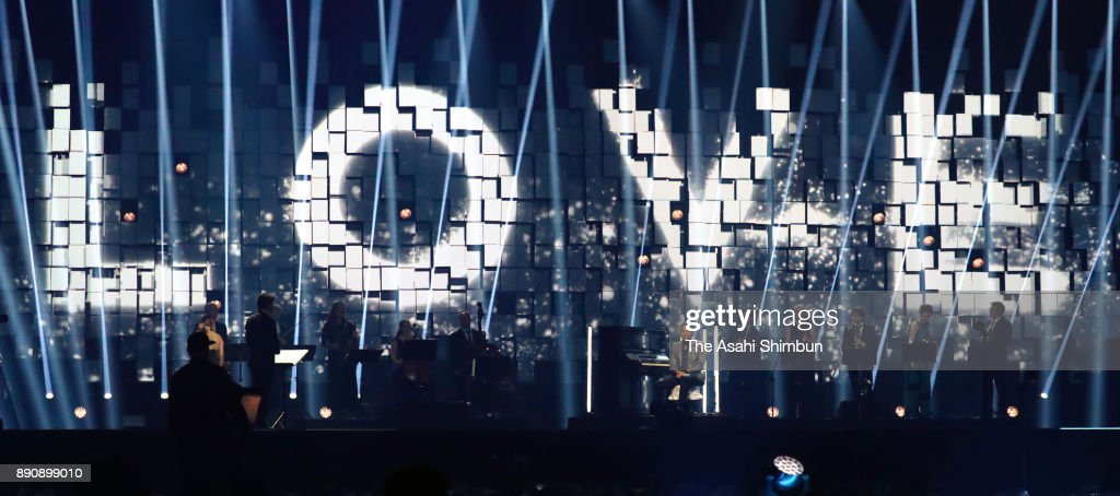 Zara Larsson and John Legend perform with the a-bomb exposed piano during the Nobel Peace Prize Concert 2017 at the Telenor Arena on December 11, 2017 in Oslo, Norway.