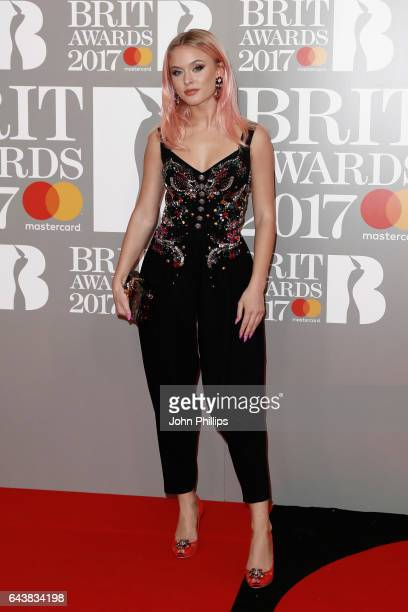 Zara Larsson attends The BRIT Awards 2017 at The O2 Arena on February 22 2017 in London England