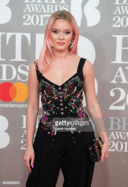 ONLY Zara Larsson attends The BRIT Awards 2017 at The O2 Arena on February 22 2017 in London England
