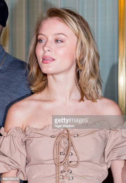 Zara Larsson attends the press conference ahead of the Nobel Peace Prize Concert 2017 at the Norwegian Nobel Institute on December 11 2017 in Oslo...