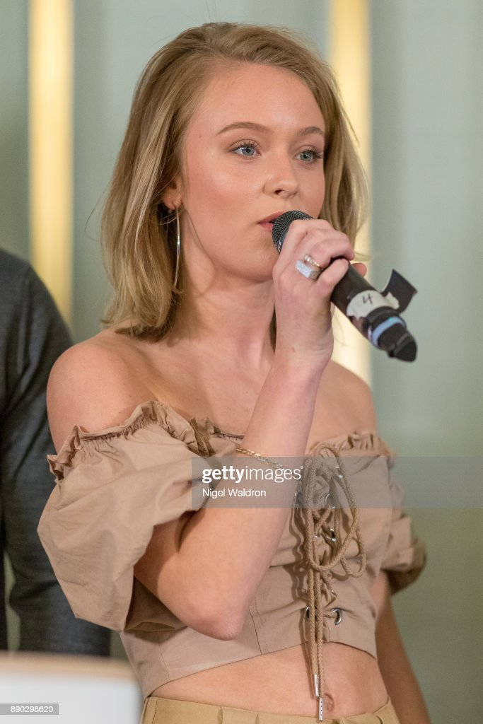 Zara Larsson attends the press conference ahead of the Nobel Peace Prize Concert 2017 at the Norwegian Nobel Institute on December 11, 2017 in Oslo, Norway. Tonight's Nobel Peace Prize Concert will be hosted by David Oyelowo to honour this year's Nobel Peace Prize winner.