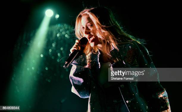Zara Larsson performs live on stage at O2 Apollo Manchester on October 21 2017 in Manchester England