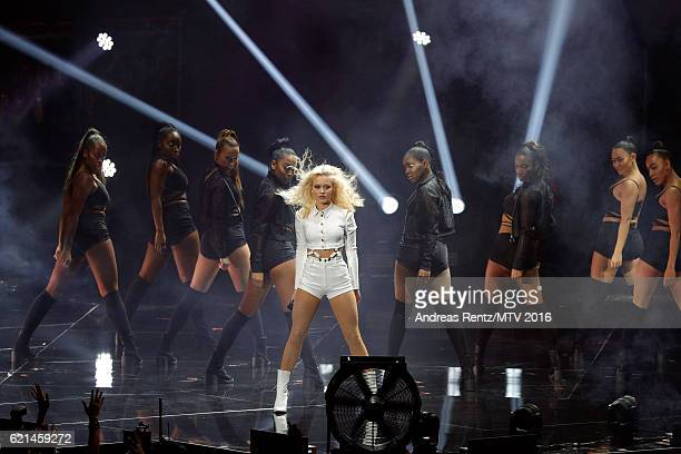 Zara Larsson performs on stage at the MTV Europe Music Awards 2016 on November 6 2016 in Rotterdam Netherlands
