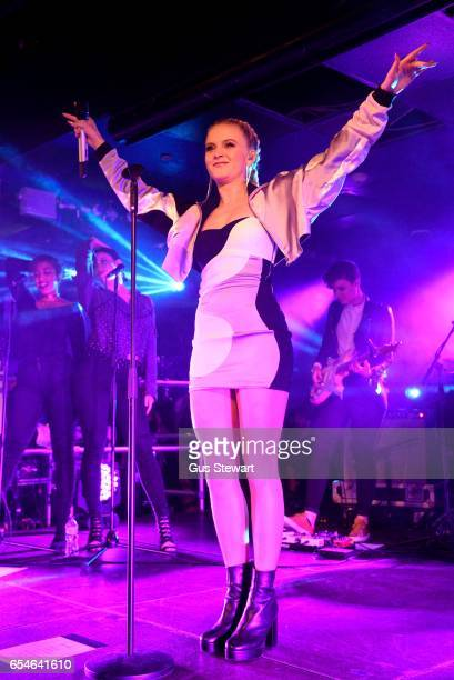 Zara Larsson performs on stage on her CD release date at The Hippodrome on March 17 in Kingston upon Thames England