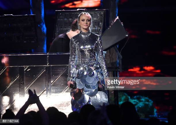 Zara Larsson performs with Clean Bandit onstage during the Teen Choice Awards 2017 at Galen Center on August 13 2017 in Los Angeles California