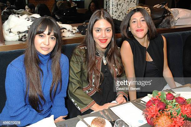 Zara Martin and Dana Alikhani attend a party organised by the fashion brand Muzungu sisters at Pont St restaurant on December 13 2013 in London...