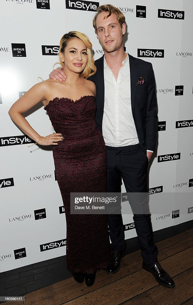 Zara Martin (L) and Jack Fox arrive at the InStyle Best Of British Talent party in association with Lancome and Avenue 32 at Shoreditch House on January 30, 2013 in London, England.