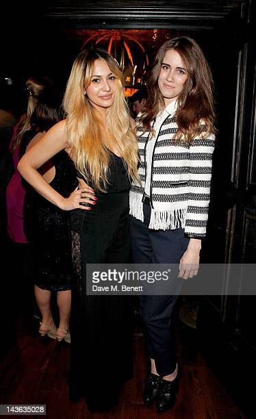 Zara Martin and Jade Williams aka Sunday Girl attend the official launch of the Johnnie Walker Blue Label Club at The Scotch Mason's Yard on May 1...