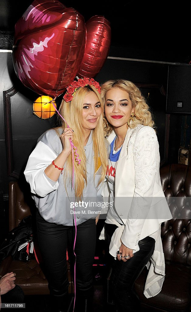 Zara Martin (L) and Rita Ora attend The Rum Kitchen's Valentine's Speed Dating with The Village Bicycle on February 14, 2013 in London, England.