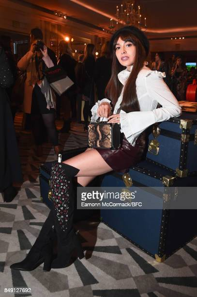 Zara Martin attends the Aspinal of London presentation during London Fashion Week September 2017 on September 18 2017 in London England