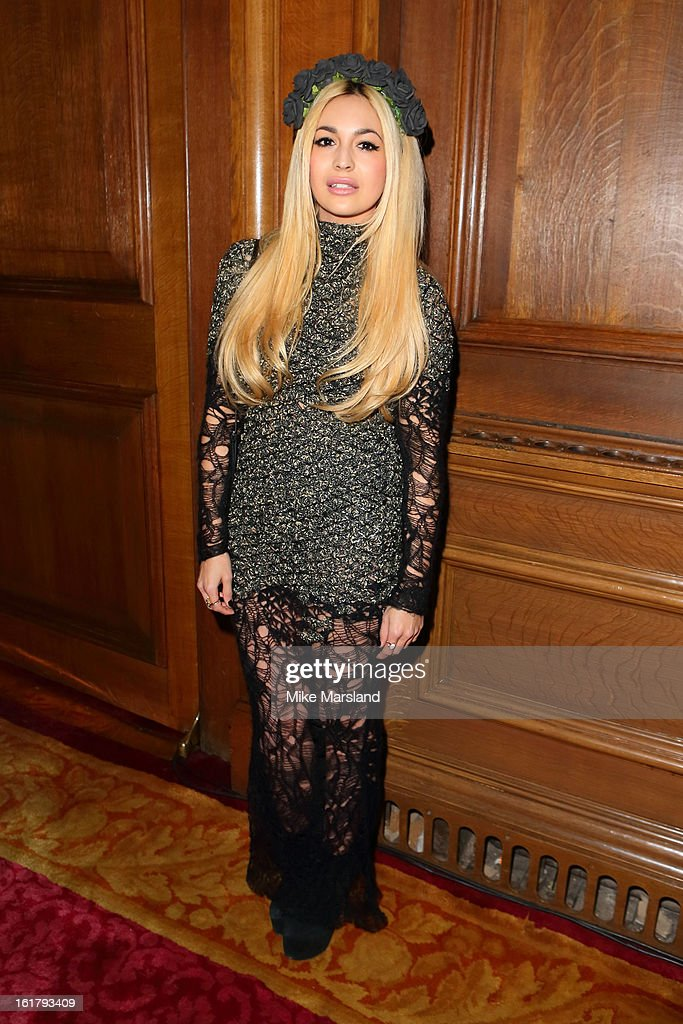 Zara Martin attends the Julien Macdonald show during London Fashion Week Fall/Winter 2013/14 at Goldsmiths' Hall on February 16, 2013 in London, England.