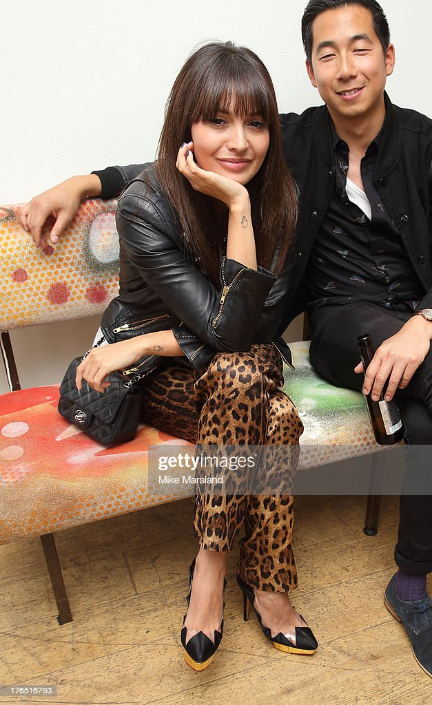 <a gi-track='captionPersonalityLinkClicked' href=/galleries/search?phrase=Zara+Martin&family=editorial&specificpeople=6550505 ng-click='$event.stopPropagation()'>Zara Martin</a> attends the launch of Urban Expression by Swatch at Blackall Studios on August 14, 2013 in London, England.